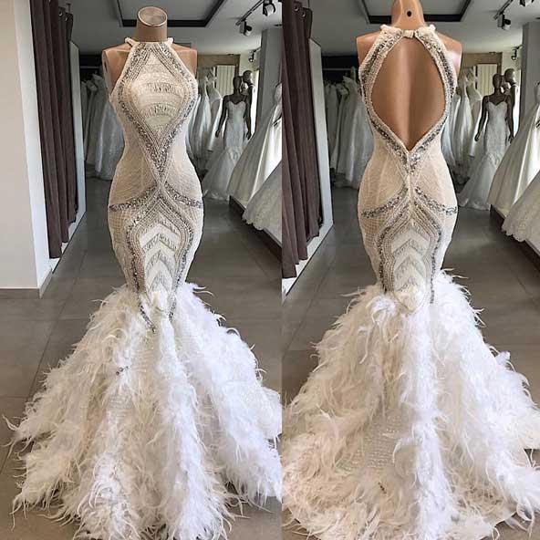 مدل لباس مجلسی پشت باز سفید