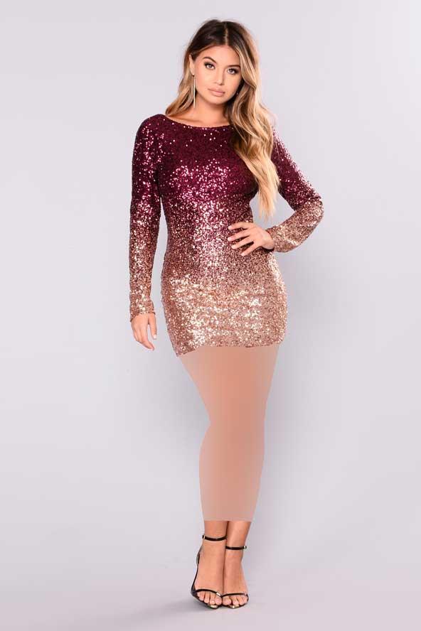 مدل لباس لمه شنی 2019 دو رنگ