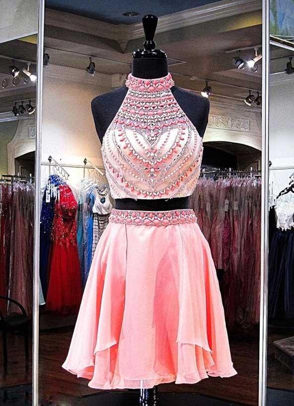 مدل لباس مجلسی کوتاه دو تیکه دخترانه