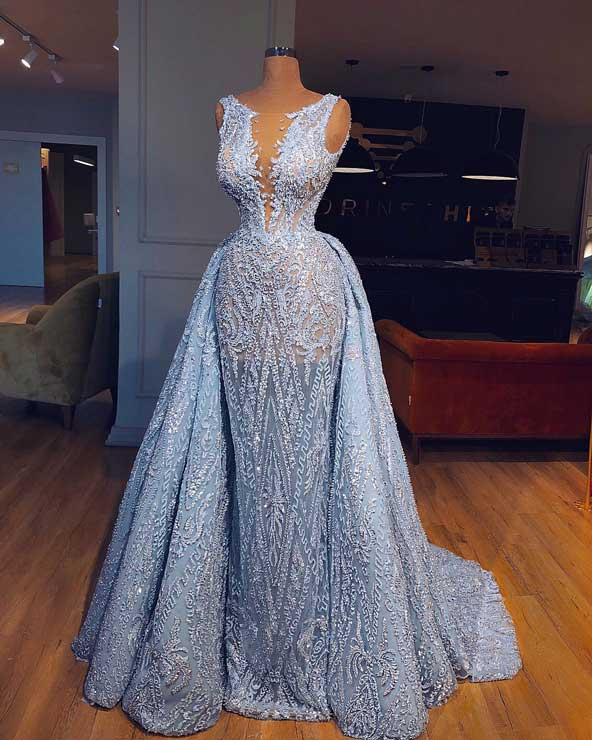 مدل لباس مجلسی گیپور اروپایی
