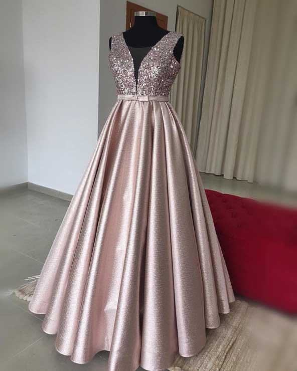 لباس مجلسی یقه هفت باز