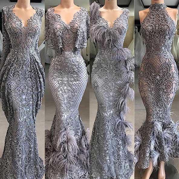 لباس مجلسی مدل ماهی کار شده رنگ بژ