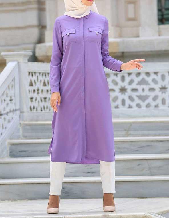مدل مانتو اسپرت دخترانه جیب دار جدید
