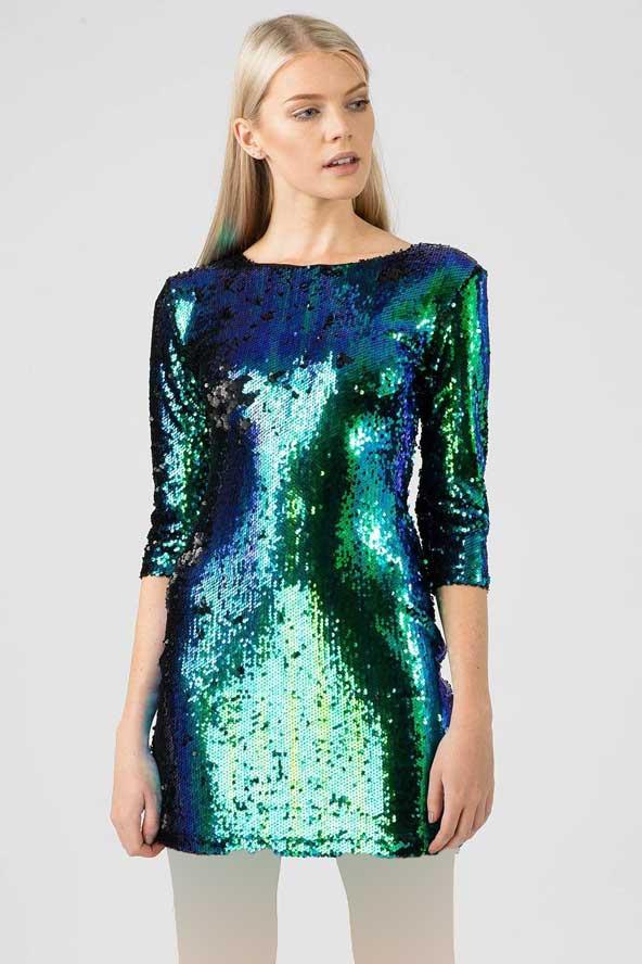 مدل جدید لباس با لمه دو رنگ