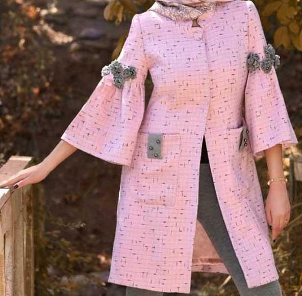 مدل مانتو جدید دخترانه 2019 آستین کیمونو