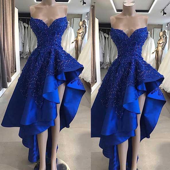 مدل لباس مجلسی دامن کلوش چاکدار آبی