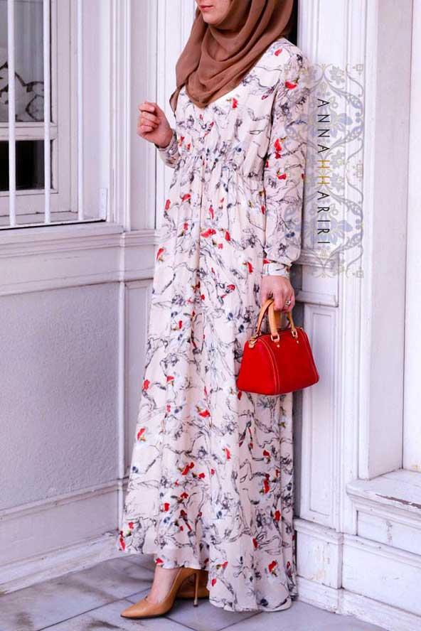 مدل مانتو دامن دار گلدار