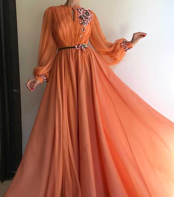 لباس مجلسی دخترانه 2019 با طرح گل