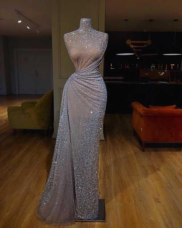 مدل لباس مجلسی لمه شیک و بلند