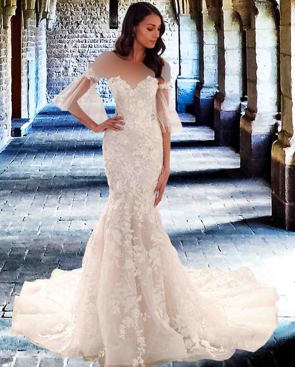 f1ee2e16f3a5d7400ddc9165737641c6 donoghte.com  - ۶۲ مدل لباس عروس جدید و شیک ۲۰۲۱ برای سورپرایز عروسهای لاکچری
