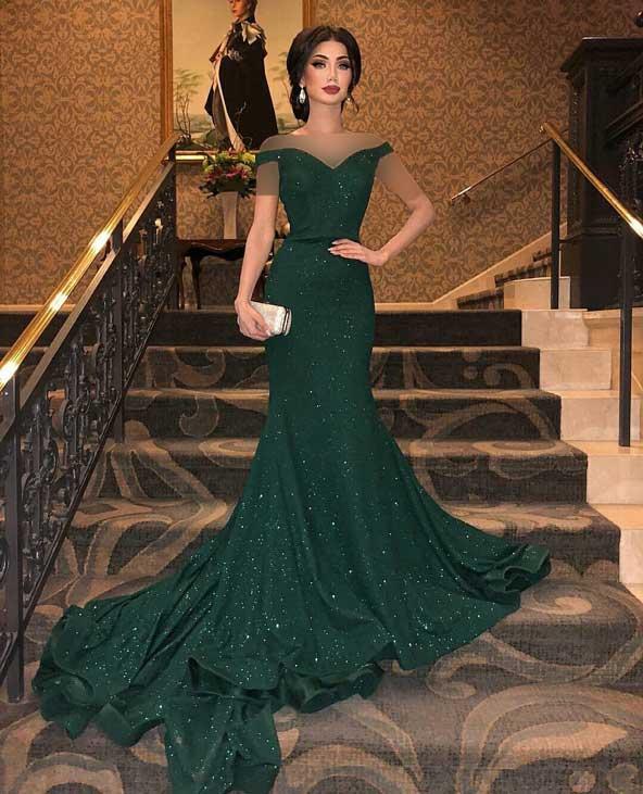 مدل لباس مجلسی 2019 ترکی سبز رنگ