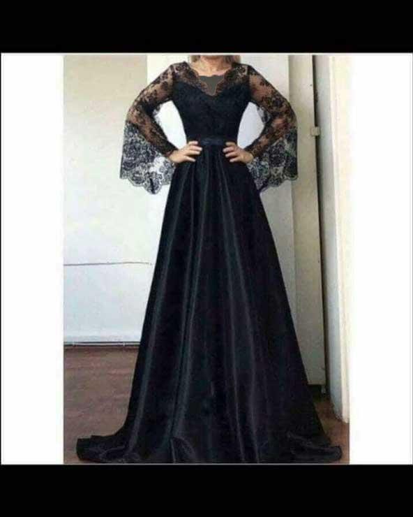 مدل لباس مجلسی 2019 بلند با پارچه کرپ