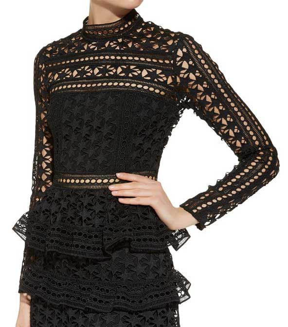 مدل لباس مجلسی گیپور زنانه 2019