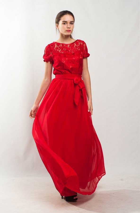 مدل لباس بلند مجلسی بالاتنه گیپور 2019