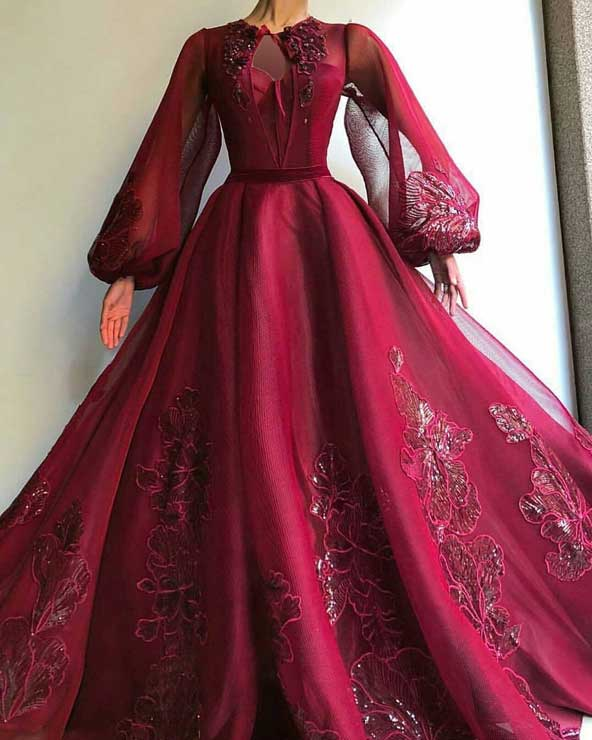 مدل لباس مجلسی بلند آمریکایی