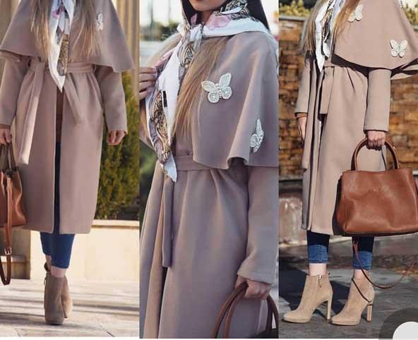 مدل مانتو زمستانی بلند دخترانه 2019
