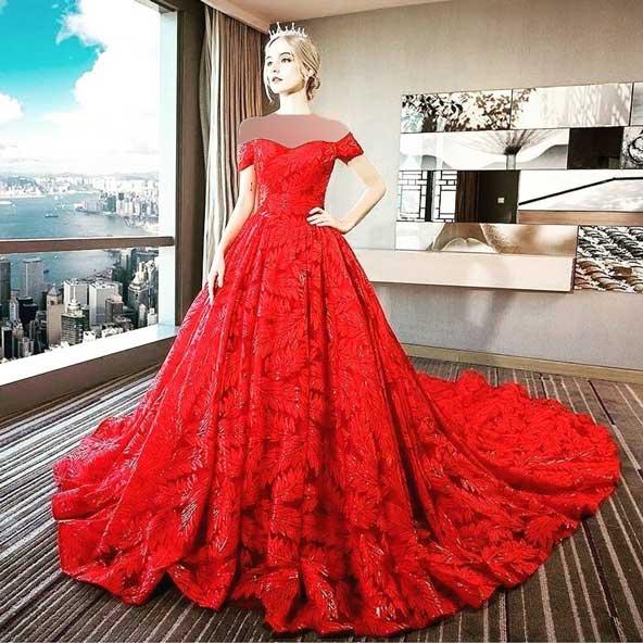 مدل لباس مجلسی بلند 2019 جلوباز