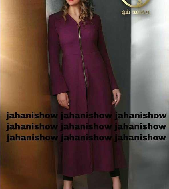 مدل مانتو بلند دخترانه 2019 زیپ دار