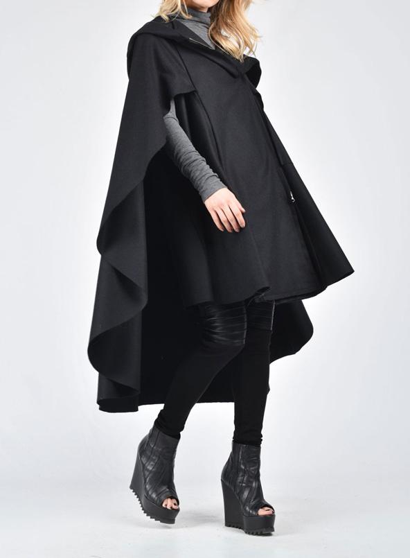 مدل شنل جلو بسته زمستانی 2019 زنانه