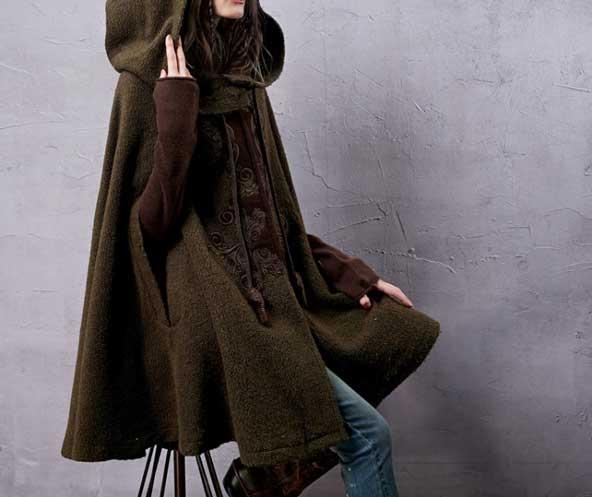 شنل زمستانی دخترانه مدل کلاه دار 2019