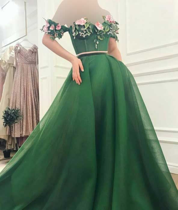 مدل جدید لباس مجلسی بلند گلدار