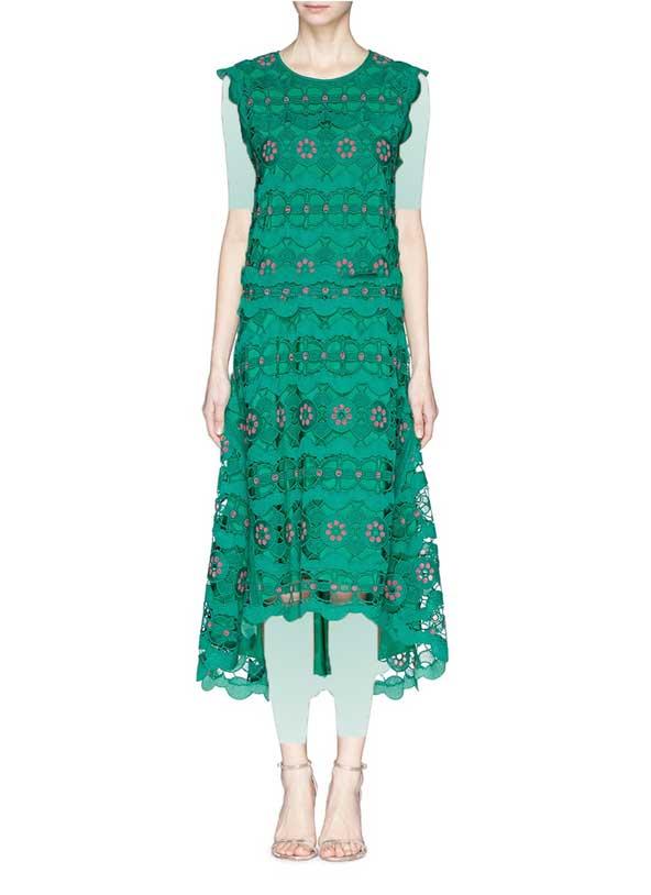 لباس جدید مجلسی گیپور اسپرت سبز رنگ