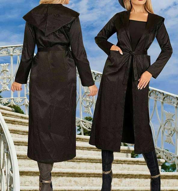 جدیدترین مدل مانتو بلند زنانه مشکی