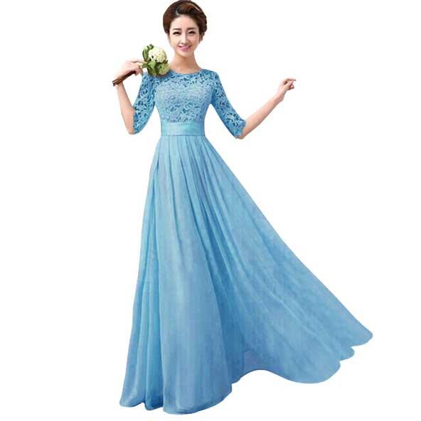 مدل لباس مجلسی بلند کره ای 2019