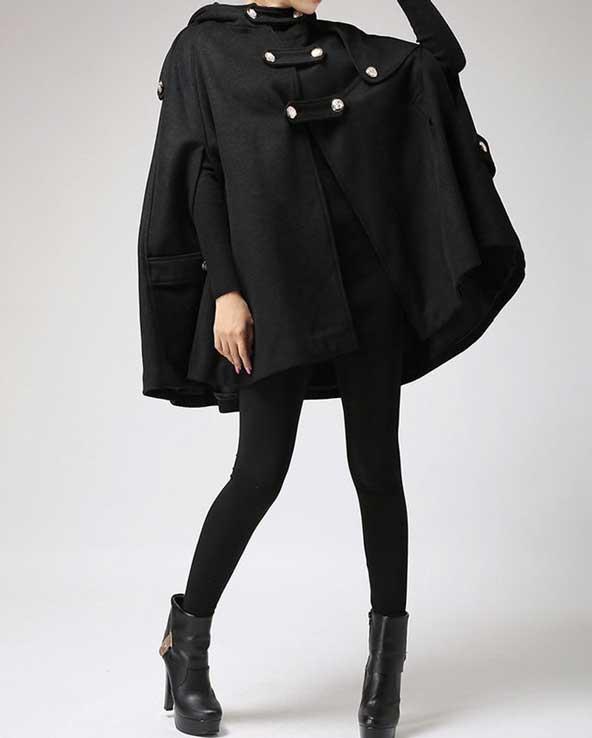 مدل شنل گشاد دخترانه جدید زمستانی