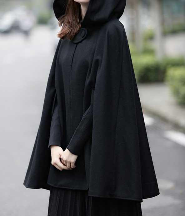 مدل جدید شنل کلاه دار زمستانی زنانه