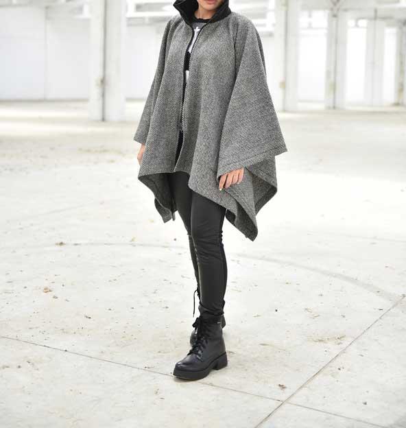 مدل شنل زمستانی دخترانه جلوباز 2019