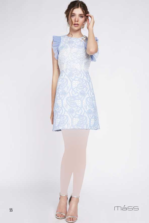 لباس کوتاه گیپور مجلسی با آستین چین دار برای تابستان 2019