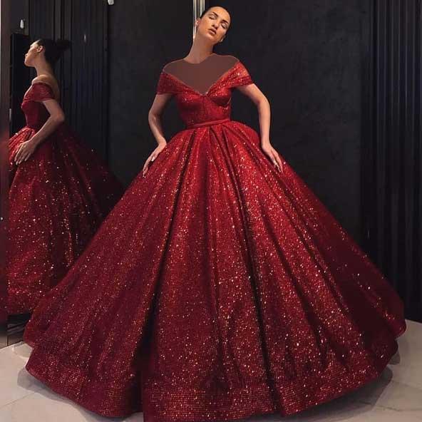مدل لباس مجلسی بلند 2019 شنی