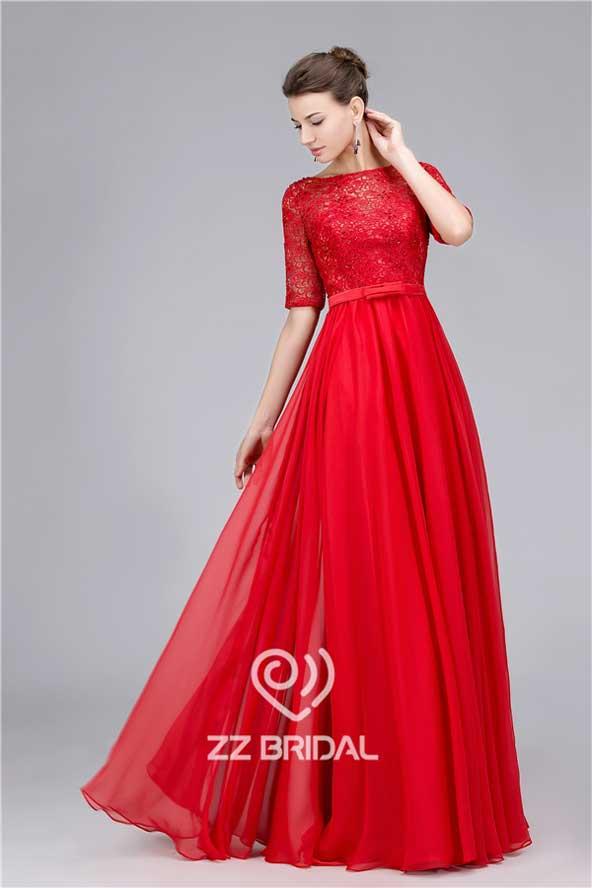 مدل جدید لباس مجلسی گیپور بلند شیک