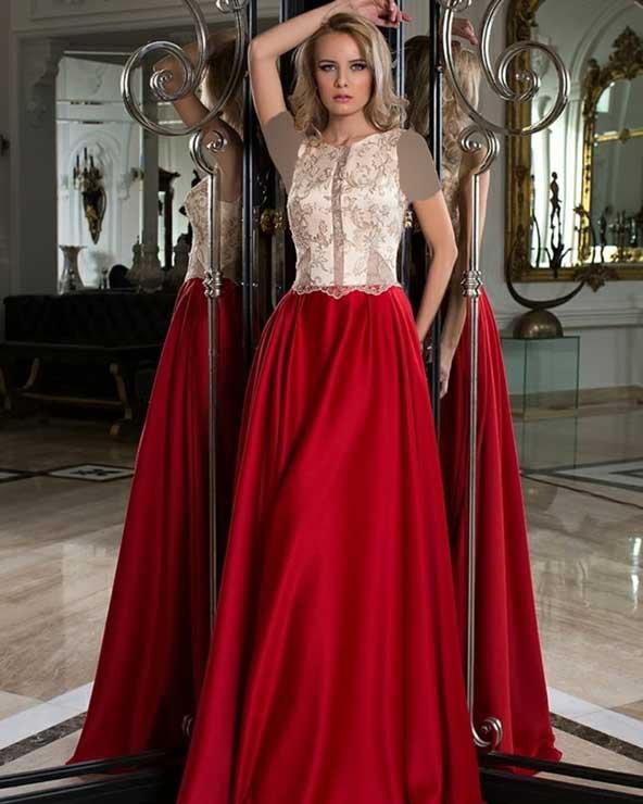 مدل لباس مجلسی بلند دو تکه 2019