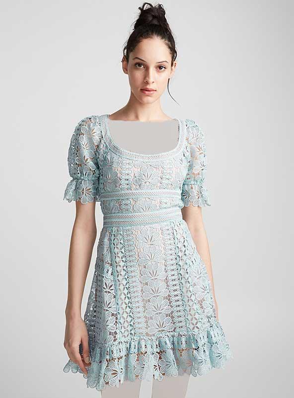 جدیدترین مدل لباس مجلسی گیپور برای افراد چاق