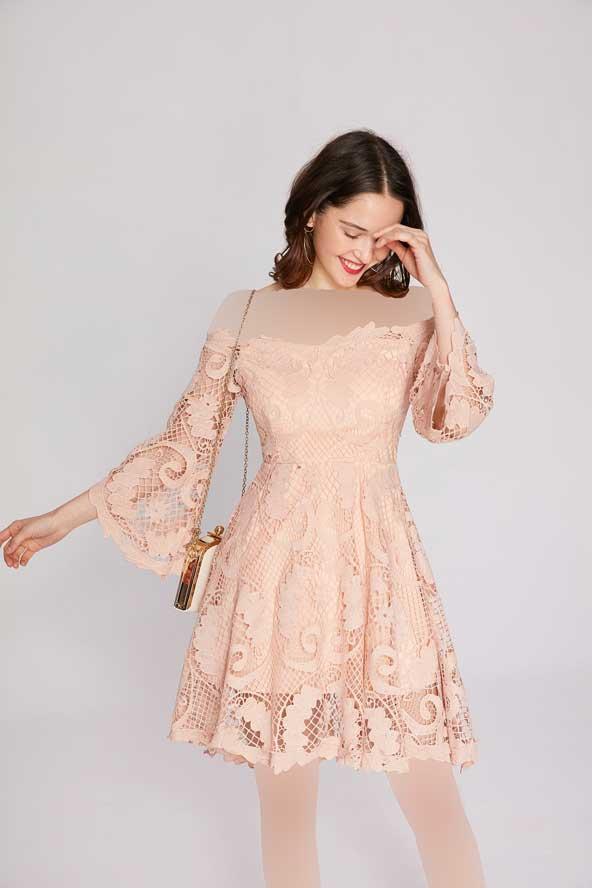 مدل لباس مجلسی دخترانه گیپور 2019