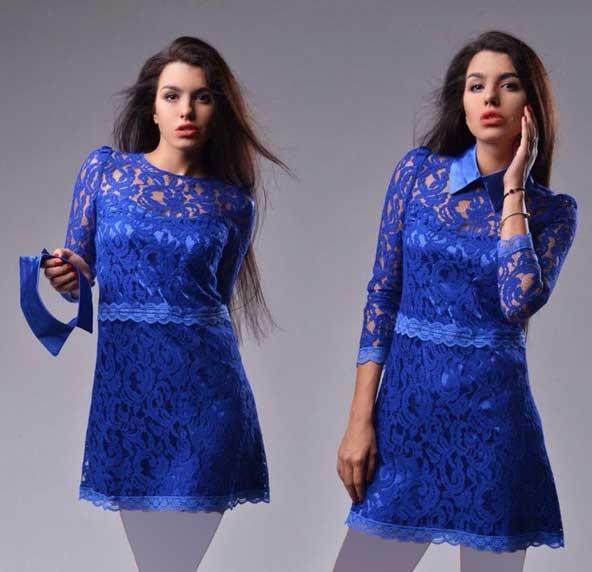 مدل لباس مجلسی گیپور 2019 کوتاه دخترانه