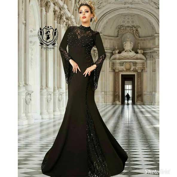 مدل جدید لباس مجلسی بلند زنانه شیک