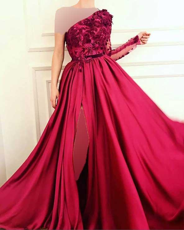 جدیدترین مدل لباس مجلسی بلند با پارچه حریر