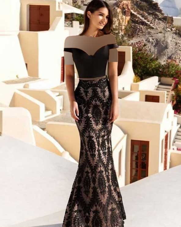 مدل لباس مجلسی 2019 بلند لاکچری