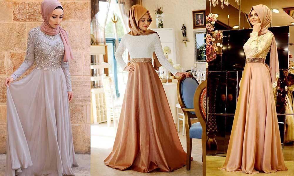 مدل لباس مجلسی پوشیده 2019