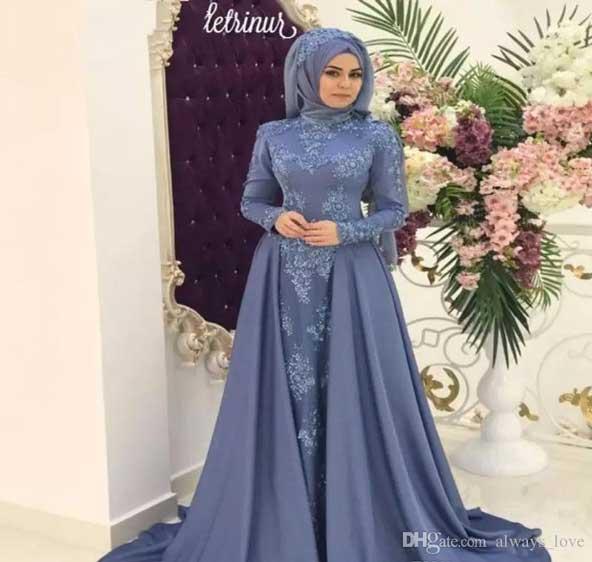 لباس مجلسی زنانه پوشیده آستین بلند 2019 با سایزبندی مختلف
