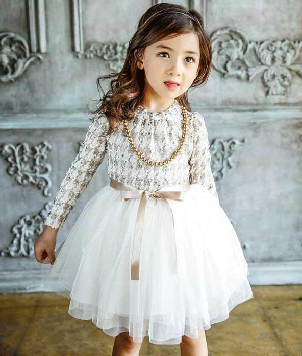 مدل لباس مجلسی بچه گانه دخترانه شیک 2019