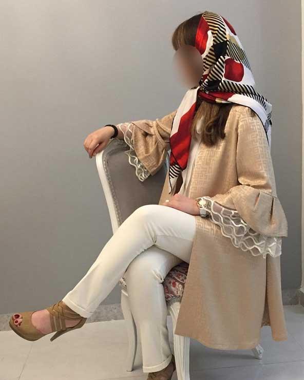 مدل مانتو دخترانه 2019 مجلسی جنس ژاکارد