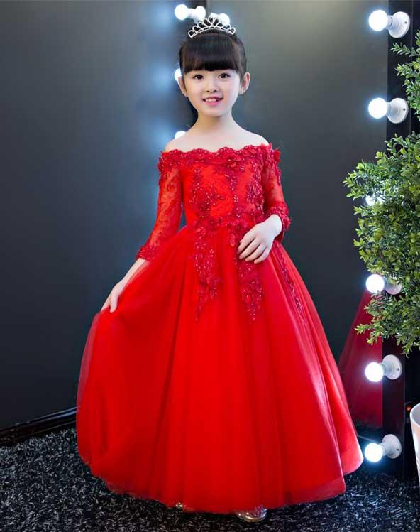 لباس مجلسی بچه گانه دخترانه بلند جدید