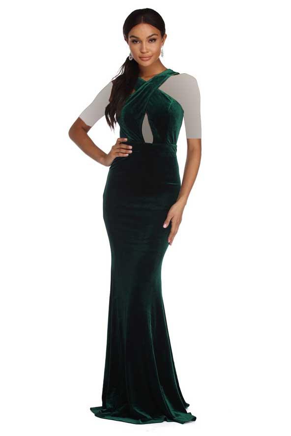 مدل لباس مجلسی مخمل بلند 2018