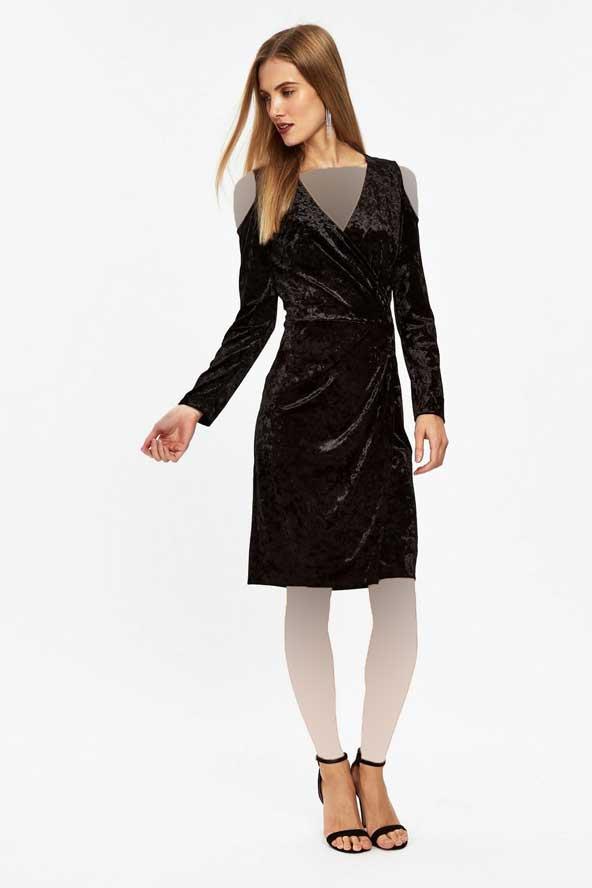 مدل لباس کوتاه مجلسی مخمل 2019