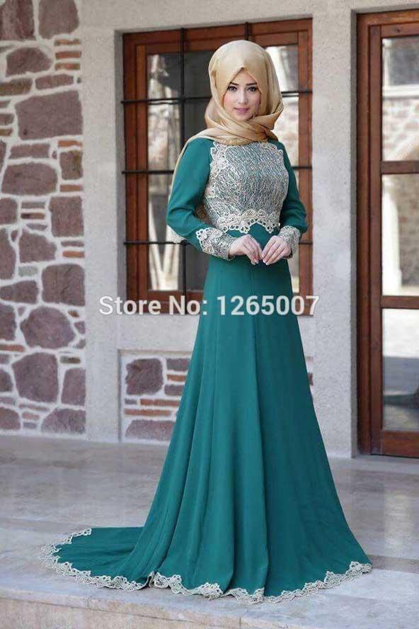 مدل لباس مجلسی اسلامی زنانه پوشیده 98