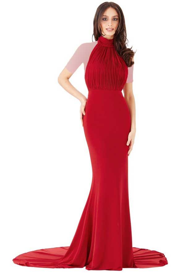 مدل لباس نامزدی زنانه دنباله دار 2019